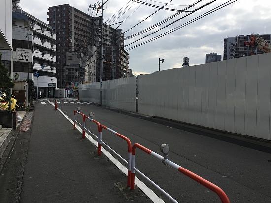 川越駅西口、東武ホテル建設中