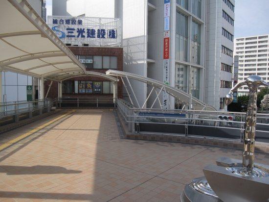 川越駅、西口ロータリー連絡通路