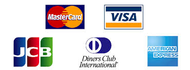 JCB,AMEX,DinersClub,VISA,MasterCard