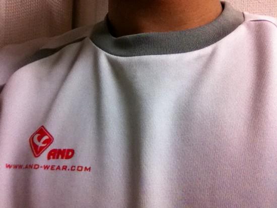 ランの準備、AND-WEARのTシャツ