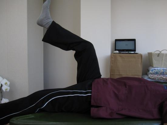 脚、股関節の動き、SLRテスト