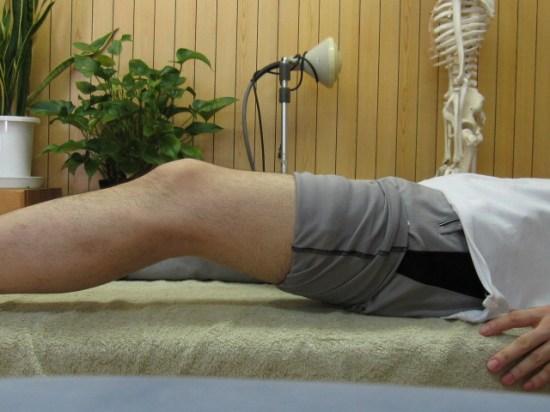 膝がしっかり伸びていない状態