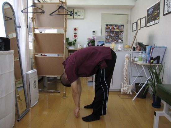 立位体前屈テスト