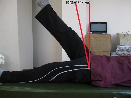 股関節角度80~90°膝伸展位