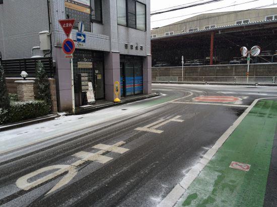 川越駅、おしだ整体院、雪降る