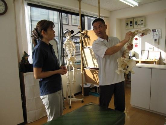 腰痛の注意点、説明、指導