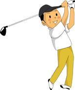 ゴルフ、腰痛、ヘルニア