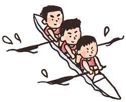 ボート、漕ぐ、トレーニング