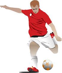サッカー、蹴る、走る