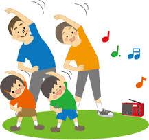 ラジオ体操、運動、身体を動かす、健康、ケア