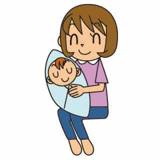 子育てママ、赤ちゃん、抱っこ