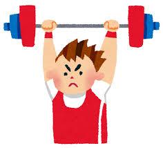 スナッチ、重量挙げ、筋トレ