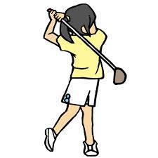 ゴルフ,スイング,身体ひねる,回旋動作