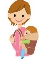 抱っこ、おんぶ、子育て、ママ