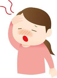 頭痛、悩み、考える、熱が出る