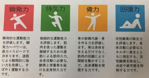 運動能力に関する4つの遺伝子