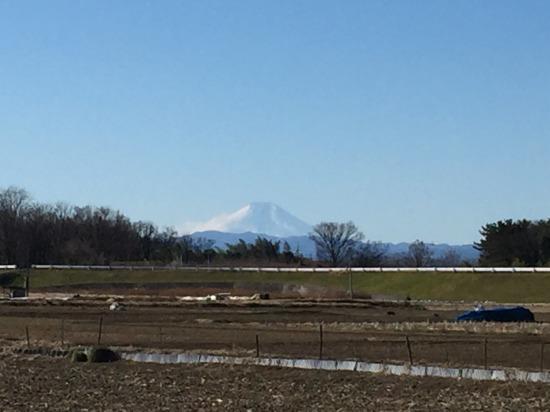 川越水上公園付近からの富士山 2018.1.2