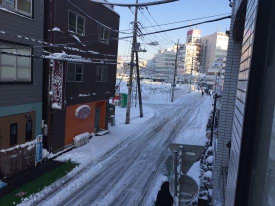 大雪、積もる、川越駅、晋栄ビル、おしだ整体院