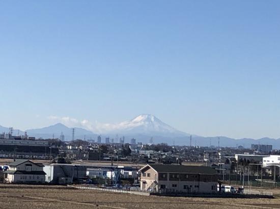 荒川サイクリングロード,富士山,富士見市