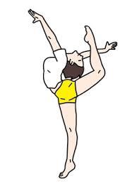 新体操,反る,伸展,姿勢,ダンス